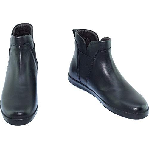 Evans Boots Cuir Confortable Marque noir Souple Bottines Élastiquées Noir Pour Chaussures Et C Aerobics Chelsea Femme Sd5pfwdx