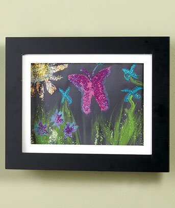Set of 2 Easy Change Artwork Frame - Black - 1 Frame Fits 9'' x 12'' Artwork. F...