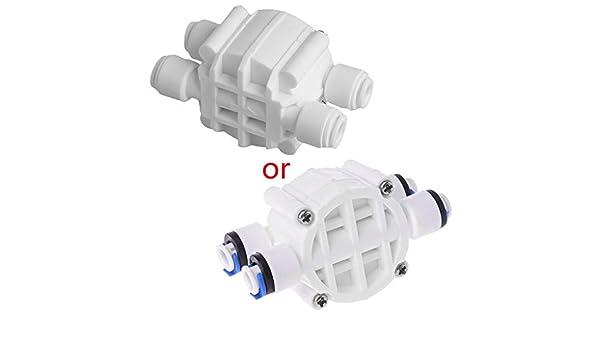 smallJUN Interruptor de válvula de Cierre automático RO de 4 vías ...