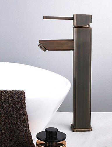 antike einzigen Handgriff Centerset Waschbecken Wasserhahn Messing antik finish (Gro?)