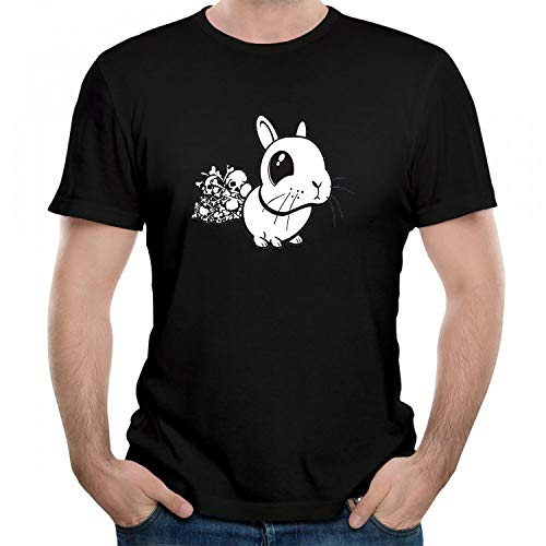 (Men's/Unisex Bunny Killer Rabbit of Caerbannog Funny Graphic T-Shirt Cool Printed Gift Tshirt Short Sleeve Tees Black M )