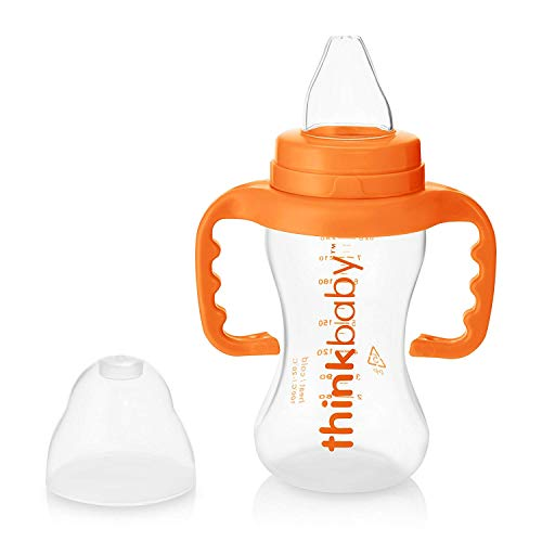 Thinkbaby BPA Free No Spill Sippy Cup, Orange (9 ounce)