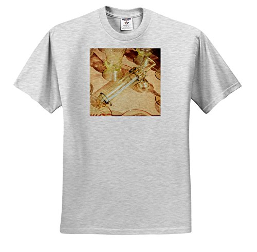 Price comparison product image 3dRose Alexis Photography - Objects - Erotic Vintage Wine Glass. Stylized Photo - T-Shirts - Youth Birch-Gray-T-Shirt Med(10-12) (TS_270827_29)