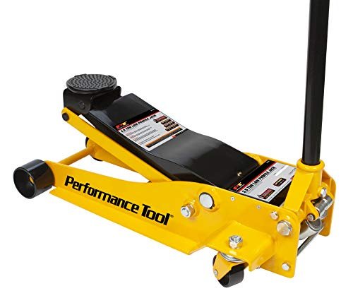 Performance Tool W1627 Yellow Steel Frame-Service Jack 3-1/2 Ton Tool