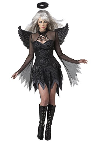 (Plus Size Women's Sultry Fallen Angel Costume)
