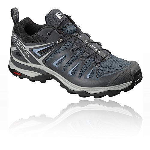 Salomon X Ultra 3 Womens Hiking Shoes Stormy Weather/Ebony/Cashmere Blue Sz 8