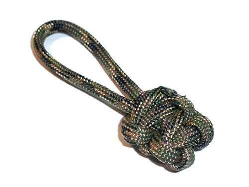 Redvex Zipper Pulls - Knife Lanyards - Equipment Lanyards - Paracord Cobra Style - Choose Your Color & Size (Qty 5) (Woodland Camo, 2.5 inch)