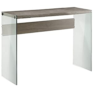 Monarch Specialties, Console Sofa Table, Tempered Glass