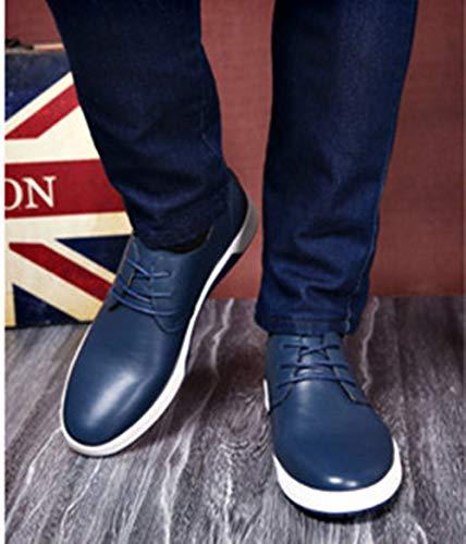 PU Blue Pelle scamosciato Grande Uomini stile casuale 48 Extra Dimensione Inghilterra Bebete5858 Uomo particolarmente scarpe gnxTw6BqxY