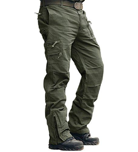 MAGCOMSEN Herren Cargo Hose Baumwolle Outdoor Hose Männer Sommer Unifarben Hose Combat Tactical Hose mit vielen Taschen…
