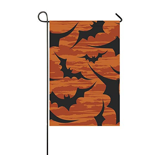 WBSNDB Home Decorative Outdoor Double Sided Halloween Wallpaper Garden Flag,House Yard Flag,Garden Yard Decorations,Seasonal Welcome Outdoor Flag 12 X 18 Inch Spring Summer Gift