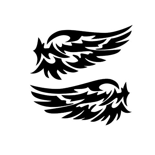 Angel Wings Reflective Car Auto Stickers Rearview Mirror Back Decal Decoration - Black