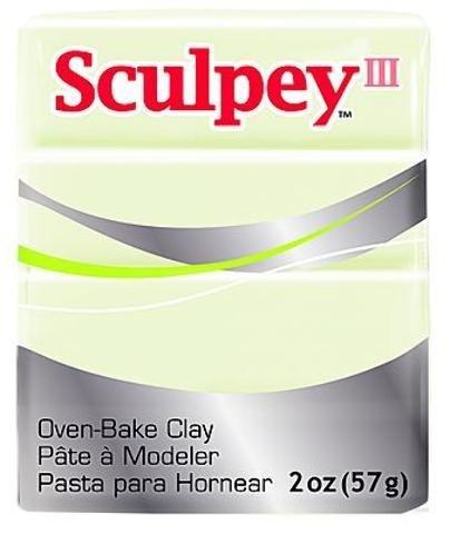 (Sculpey Modeling Compound III (Glow In The Dark) 5 pcs sku# 1835190MA)