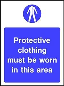 IVA Factura suministrado 150mmx112mm ropa de protección adhesiva (salud y seguridad pegatina señal).