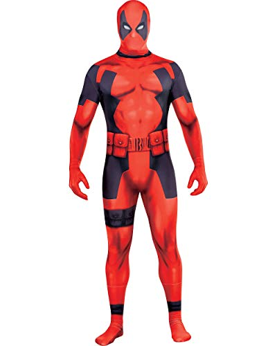 Costumes USA Deadpool Partysuit for Adults, Size Extra-Large, Includes a Spandex Partysuit with Double Zippers and Wraps -