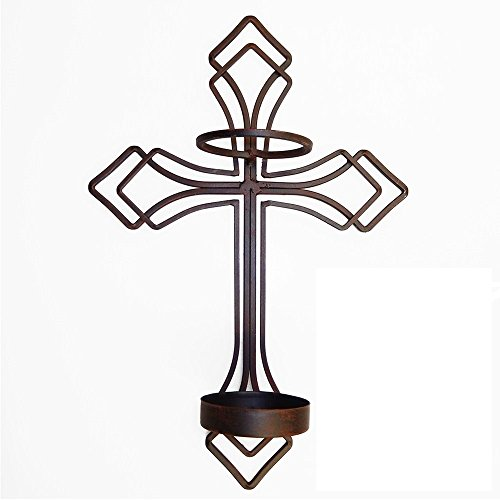 Large Wall Sconce Candle Holder : Briarwood Candlestick Holders Cross Wall Sconce Candle Holder, Large