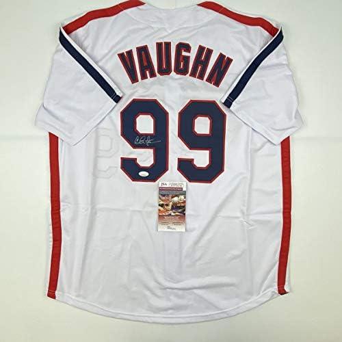 Autographed/Signed Charlie Sheen Wild Thing Ricky Vaughn Major League Movie Baseball Jersey JSA COA