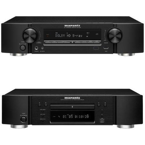 Marantz NR-1403 Slim Line 5.1-Channel Home Theater Receiver & UD-5007 Universal Disc Player Bundle
