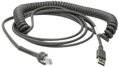 Motorola Coiled Cable Type A USB CBA-U09-C15ZAR 15FT CABLE USB COILED CONNECTOR SERIES A ROHS
