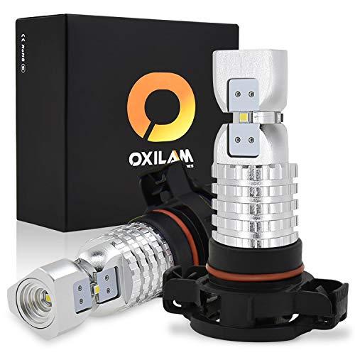 Fog Bulb Light Lamp (OXILAM 5202-H16 LED Fog Light Bulbs for Lamp Replacement Super Bright 2600 Lumens 2020SMD Chipset for Fog-Lights or DRL 6000K Xenon White (2 Pack))