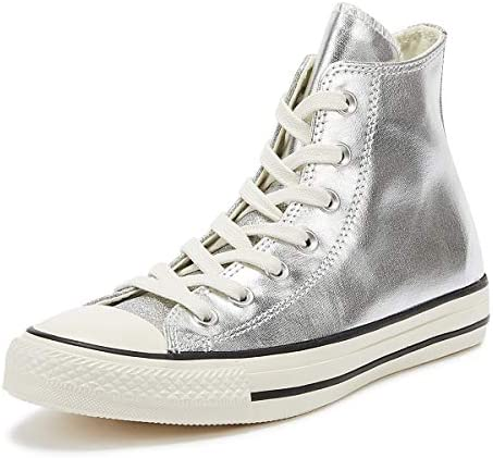 Converse Chuck Taylor All Star Shiny Metal Womens Silver Hi