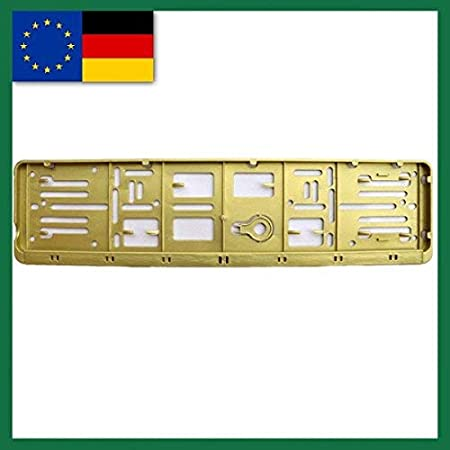 und alle Norml/änder-W-Kennzeichenrahmen orange f/ür 1 KFZ Farbe-EU-NORM-110X520-Deutschland 1 Set