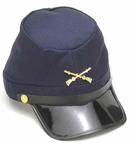 Forum Novelties Civil War Union Kepi Hat, Navy / Black / Gold, One Size -  152436