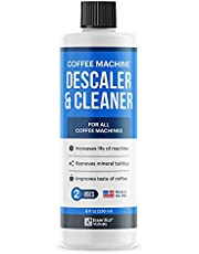 Universal Descaling Solution (2 Uses Per Bottle), Designed For Keurig, Ninja, Nespresso, Delonghi and All Single Use Coffee and Espresso Machines, Coffee Machine Descaler Made in the USA