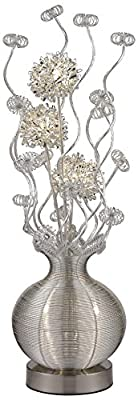 Dimond Lighting D2717 Labelle LED Contemporary Floral Floor Lamp, Silver