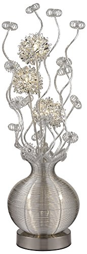 - Dimond Lighting D2717 Labelle LED Contemporary Floral Floor Lamp, Silver