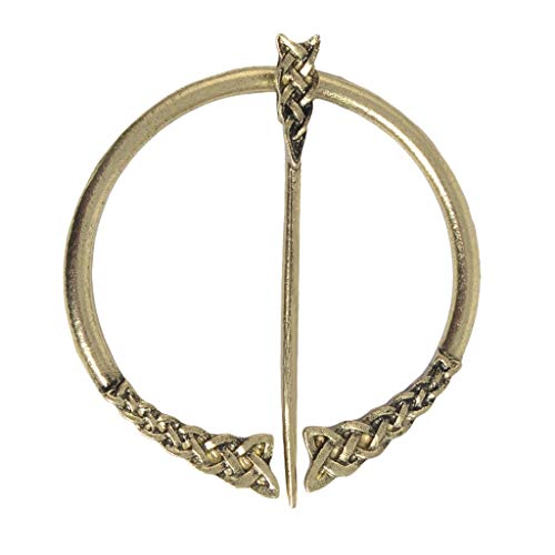 perfektchoice Viking Brooch Vintage Medieval Dress Cloak Pin Clasp Clothes Fasteners Celtic Zinc Alloy Sweater Jewelry - 2.6 x 2.2inch - Antique Copper 2 from perfektchoice