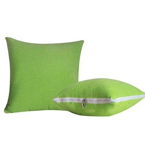 Car Pillow Waist Pillow Dual-use Crystal Velvet Quilt , apple green
