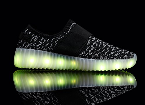 Santiro LED Sneaker für Kinder Sport Schuhe USB Aufladen Leuchtend Outdoor Leichtathletik beiläufige Sneaker.SSK006B7-35