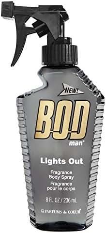 BOD Man Fragrance Body Spray, Lights Out, 8 Fluid Ounce