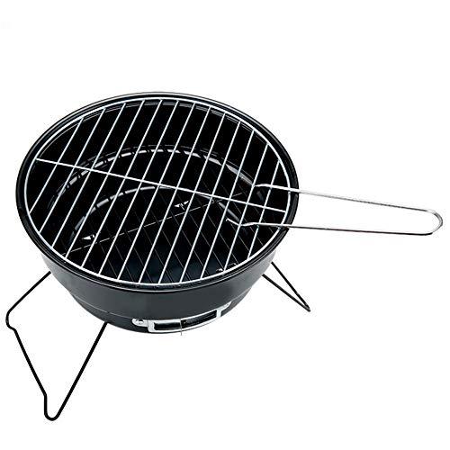 WPCBAA Carbón de leña portátil Parrilla de Barbacoa/Cocina para Acampar al Aire Libre de la Familia BBQ Tipo Redondo...