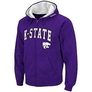 Mens NCAA Kansas State Wildcats Full-zip Hoodie (Team Color) - S