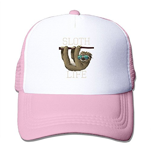 ZhiqianDF Men Sloth Life Funny Animal Sunglasses Cool Travel Pink Mesh Cap Hat Adjustable - Electric Sunglasses Generator