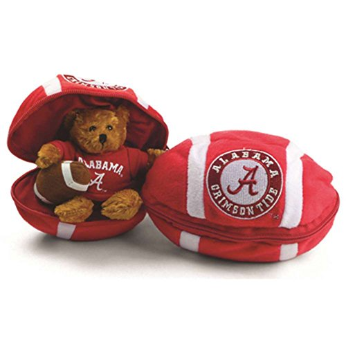 NCAA Alabama Crimson Tide Hidden Plush Bear Football (Plush Ncaa Football)