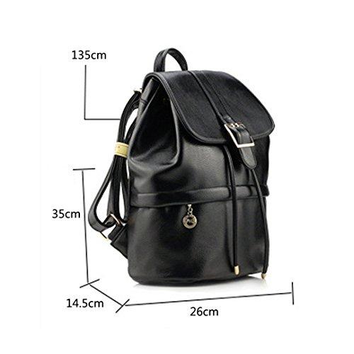 c2f5f63e841 Bag De Pu 14 Grueso Mochilas Escolares Bolso Viaje Bolsos Alto Negro 26 5  35 Para Mujer ...