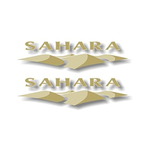 "New 2 SAHARA DUNES Vinyl 9"" Decals Jeep Wrangler Sahara Rubicon CJ YJ JK TK Stickers supplier"