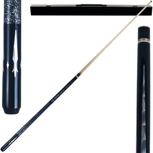 2 Piece Hardwood Monarch Design Pool Stick Cue - With Carrying Case! by TMG