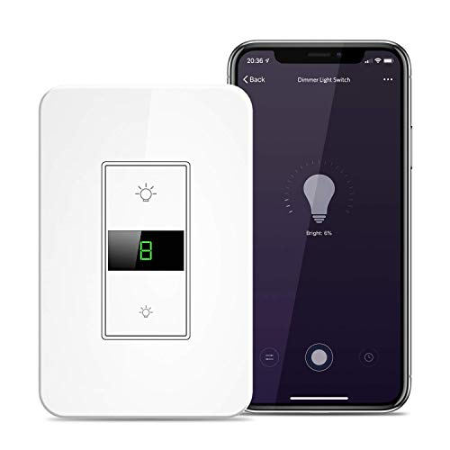 73a9b9fc8a Smart Wi-Fi Dimmer Switch for Dimmable 150 Watt LED and 500 Watt Max  Incandescent