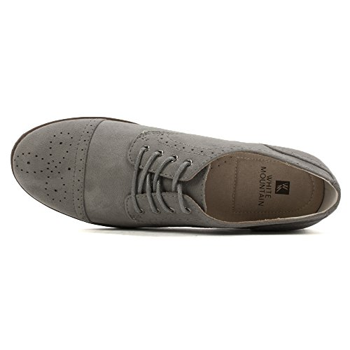 WHITE Grey Women's Suede Saint MOUNTAIN Oxford rxzrCB
