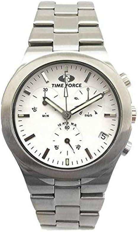 Time Force Reloj Analog-Digital para Mens de Automatic con Correa en Cloth S0324656