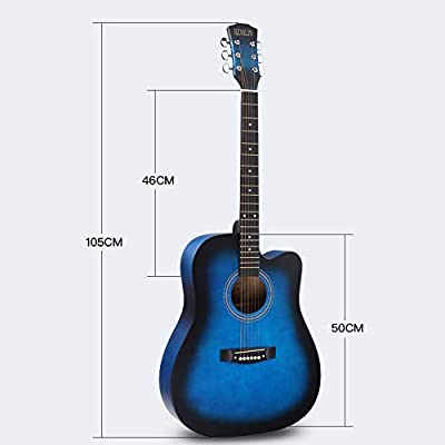 Guitarra Clásica Guitarra 4/4 De Madera, 105 Cm 6 Cuerdas De Acero Afinadores Guitarra Folk Instrumentos,F: Amazon.es: Hogar