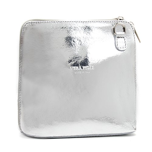 Genuine Silver Handbag Cross Aossta Micro Bag Bag Small Shoulder Leather Body Italian FndHf1T