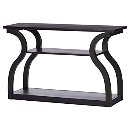 Amazon Com Wood Console Table With Curved Legs Console