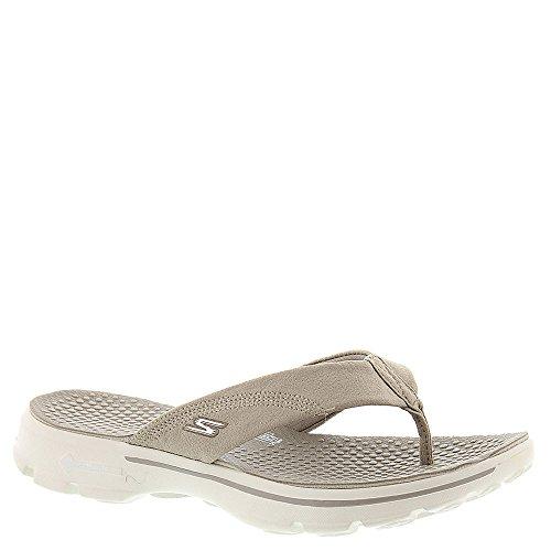 (Skechers Women's Gowalk 3 Nestle Thong Sandal,Natural,US 11 M)