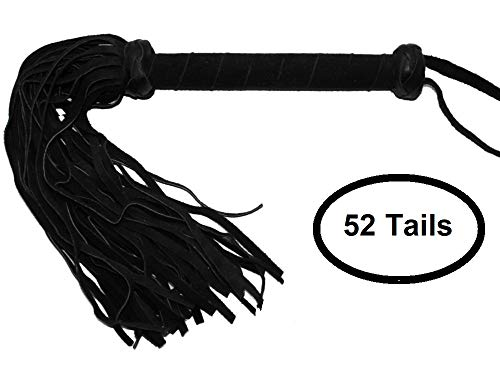 Prairie-Horse-Supply-Suede-Whip-Crop-18-or-52-Soft-Suede-Tails-Extra-Long-Suede-Covered-Handle-Black-Blue-Purple-Red-or-Teal