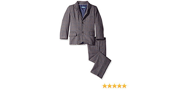 Andy /& Evan Boys Windowpane Check Suit 2 Piece Set